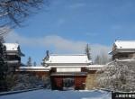 上田城積雪時
