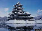 松本城積雪時